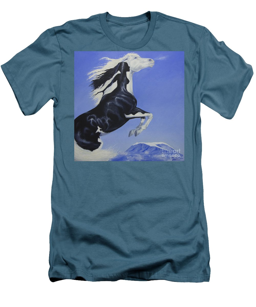 Paint Men's T-Shirt (Athletic Fit) featuring the painting The Goddess Within by Louise Green