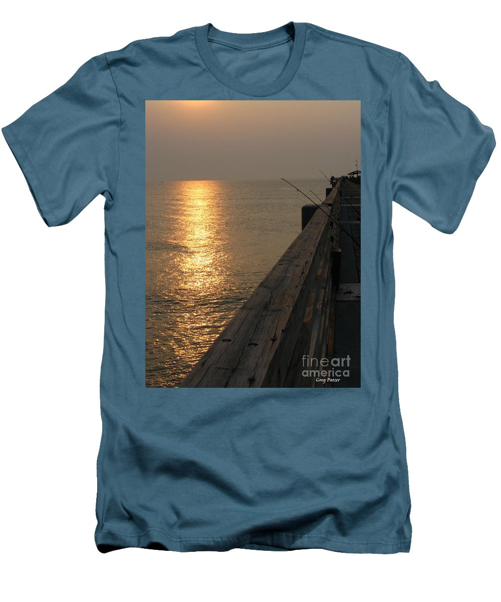 Art For The Wall...patzer Photography Men's T-Shirt (Athletic Fit) featuring the photograph The Pole by Greg Patzer