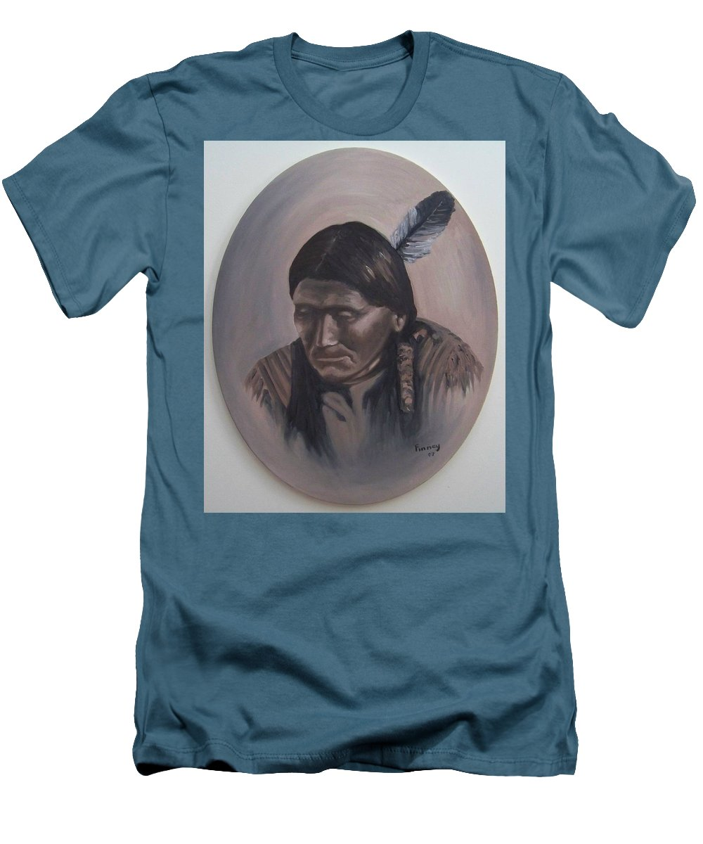 Michael Men's T-Shirt (Athletic Fit) featuring the painting The Story Teller by Michael TMAD Finney