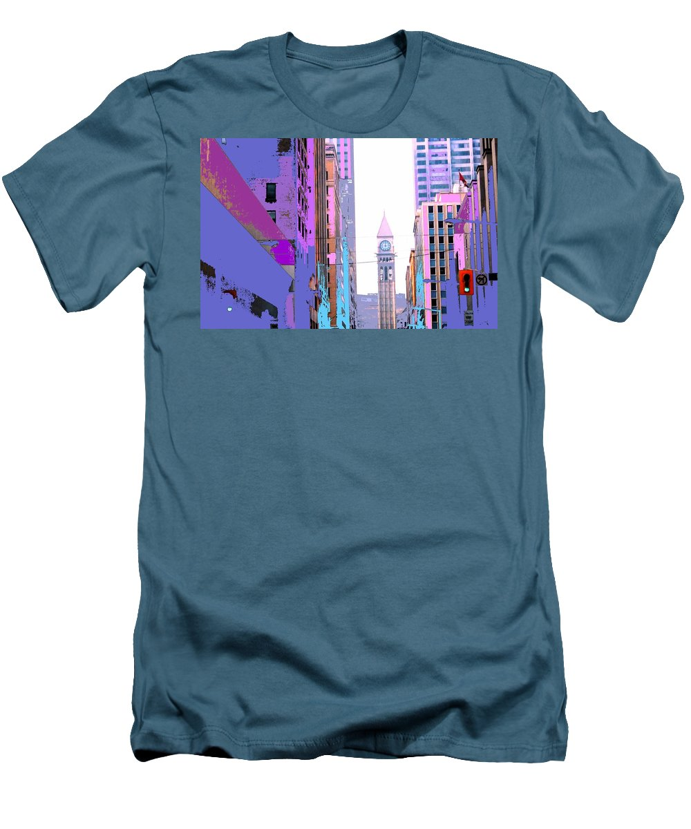 Bay Men's T-Shirt (Athletic Fit) featuring the photograph Toronto Old City Hall by Ian MacDonald