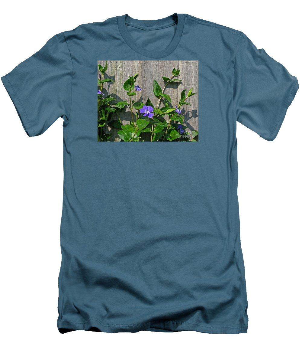 Purple Men's T-Shirt (Athletic Fit) featuring the photograph Wildly Purple by Ann Horn
