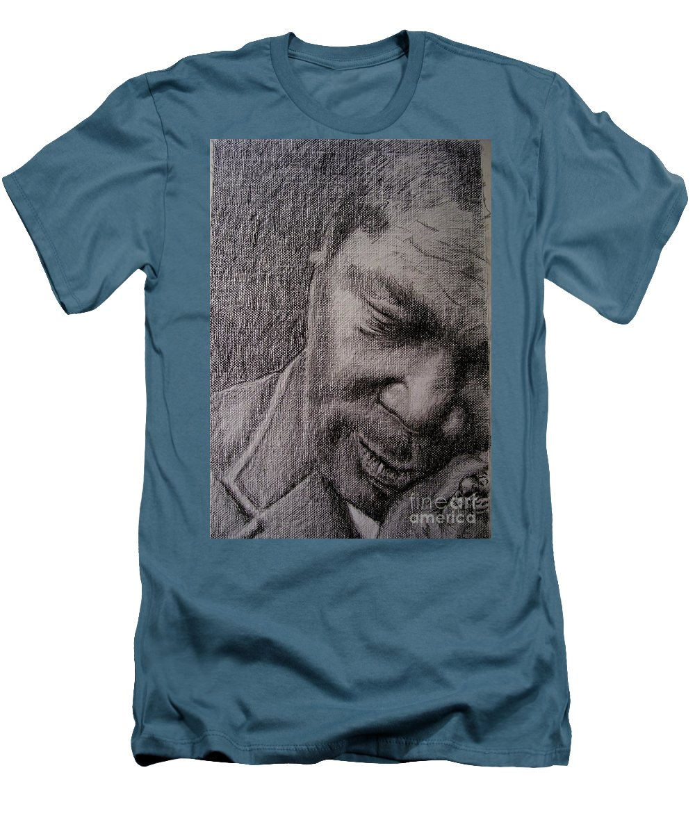 Bbking Men's T-Shirt (Athletic Fit) featuring the painting Bbking by Frances Marino