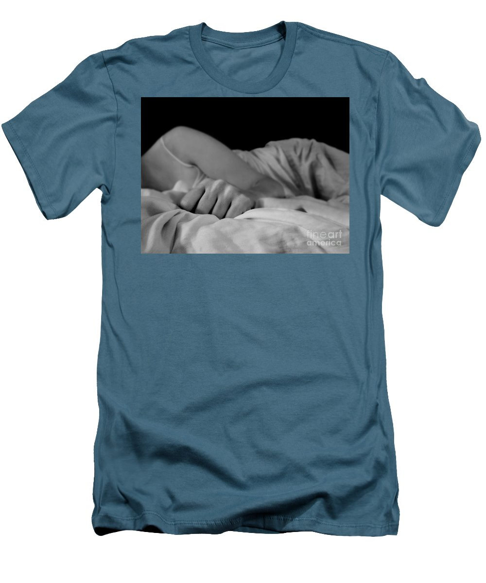 Dipasquale Men's T-Shirt (Athletic Fit) featuring the photograph Cast Me Gently Into Morning For The Night Has Been Unkind by Dana DiPasquale