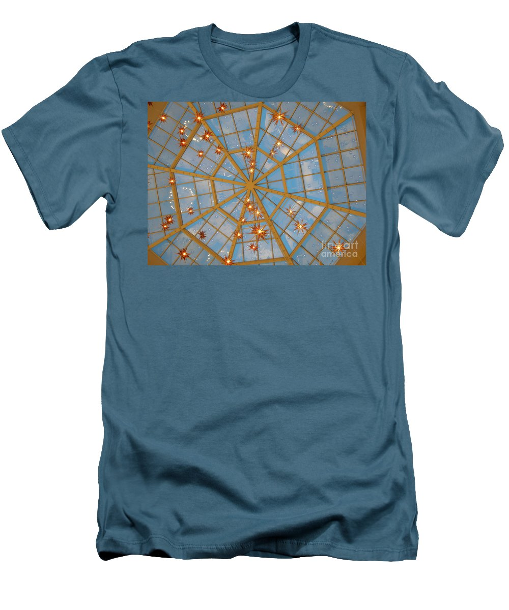 Glass Men's T-Shirt (Athletic Fit) featuring the photograph Crystal Web by Maria Bonnier-Perez