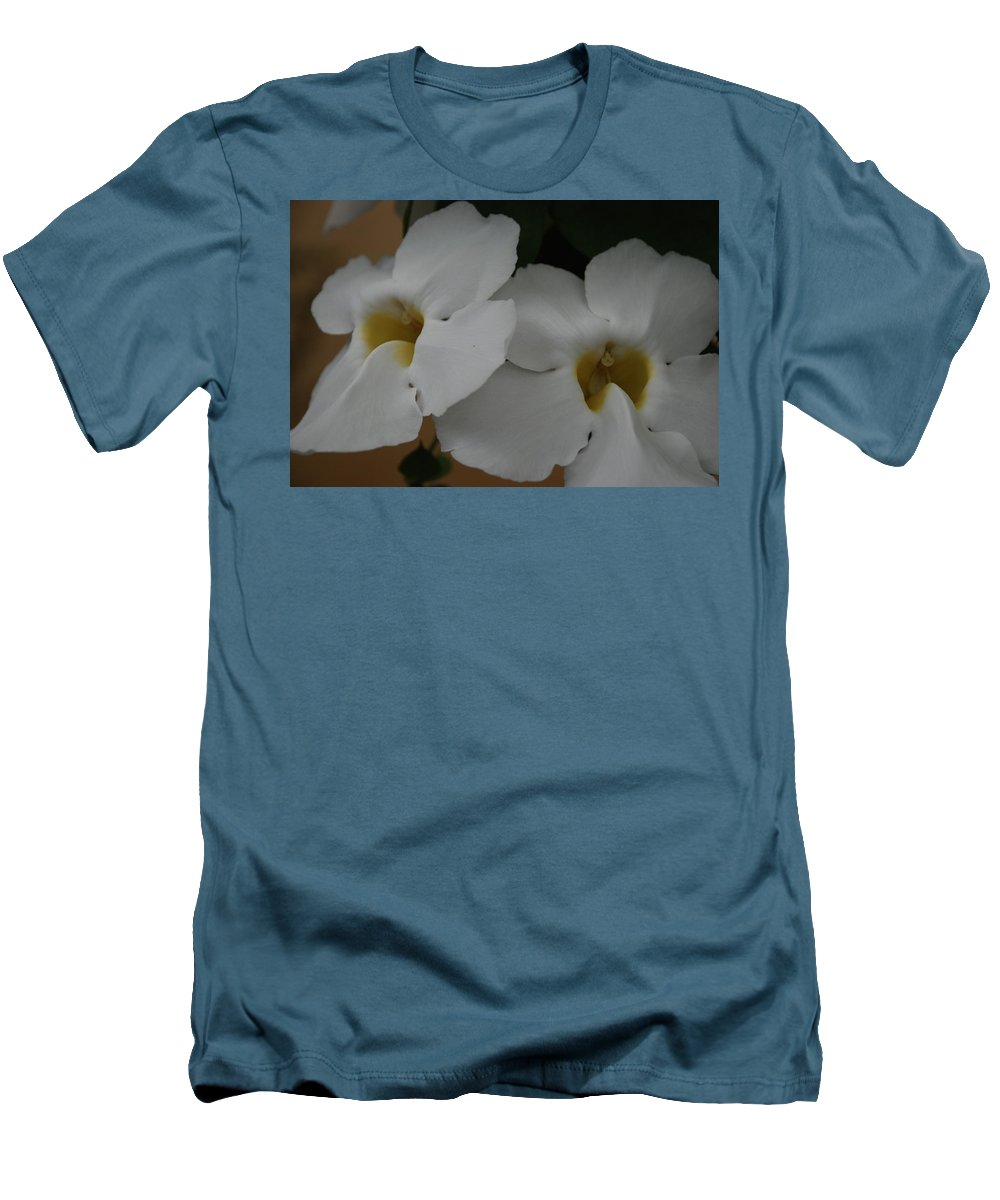 Macro Men's T-Shirt (Athletic Fit) featuring the photograph White Orchids by Rob Hans