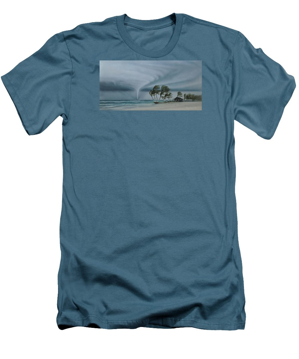 Men's T-Shirt (Athletic Fit) featuring the painting Mahahual by Angel Ortiz