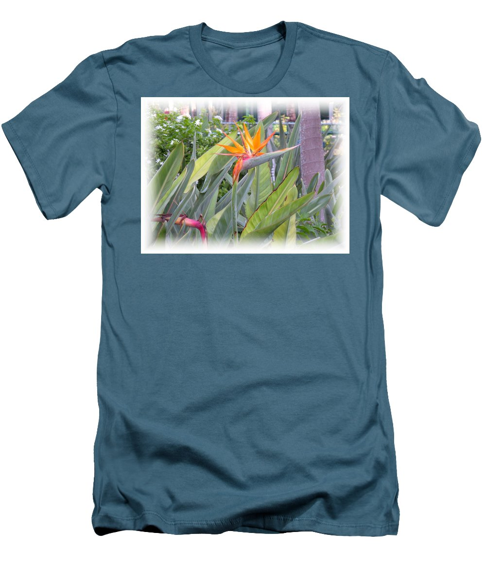 Plant Men's T-Shirt (Athletic Fit) featuring the photograph A Bird In Paradise by Maria Bonnier-Perez