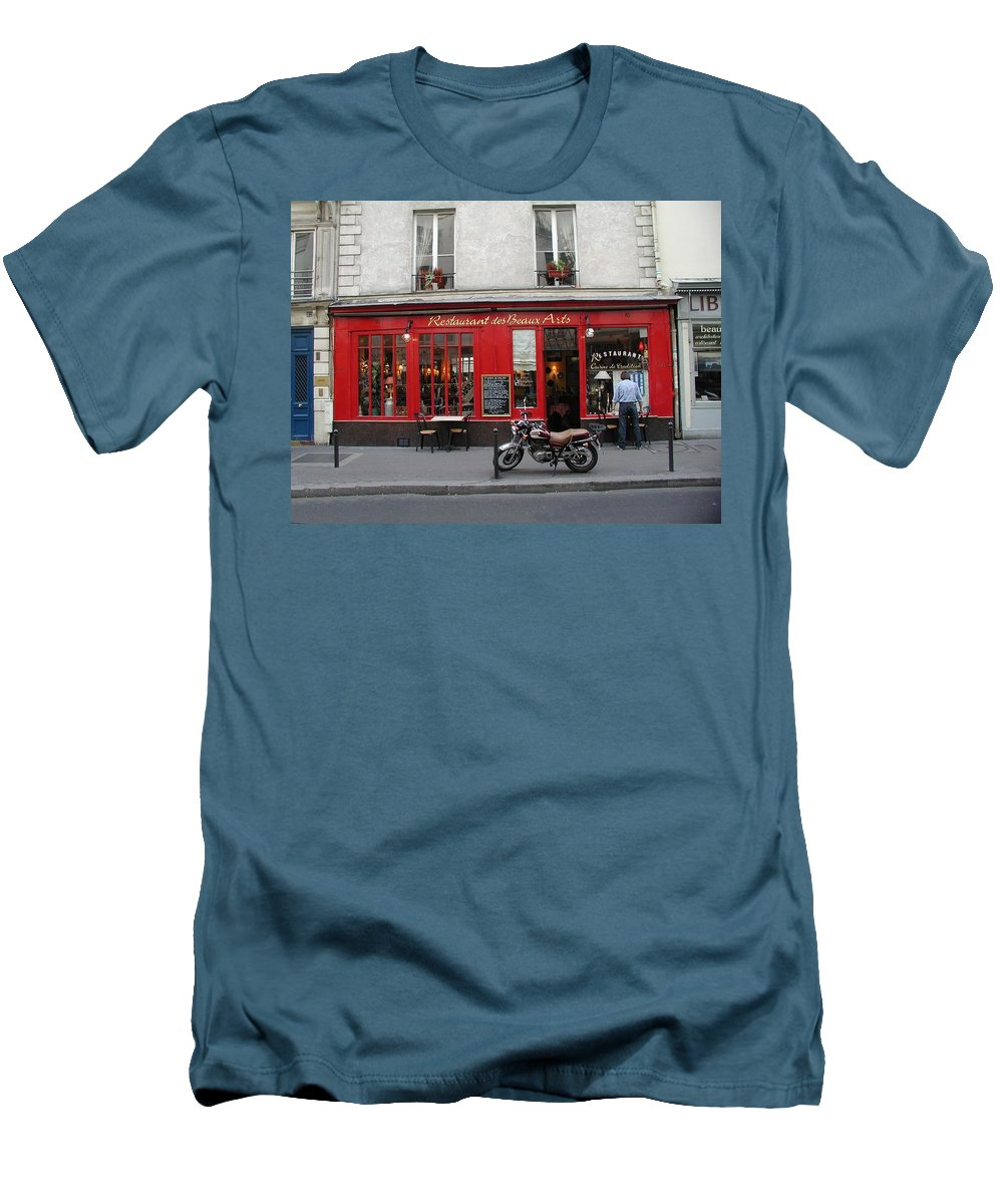 Red Men's T-Shirt (Athletic Fit) featuring the photograph A Stop Along The Journey by Tom Reynen