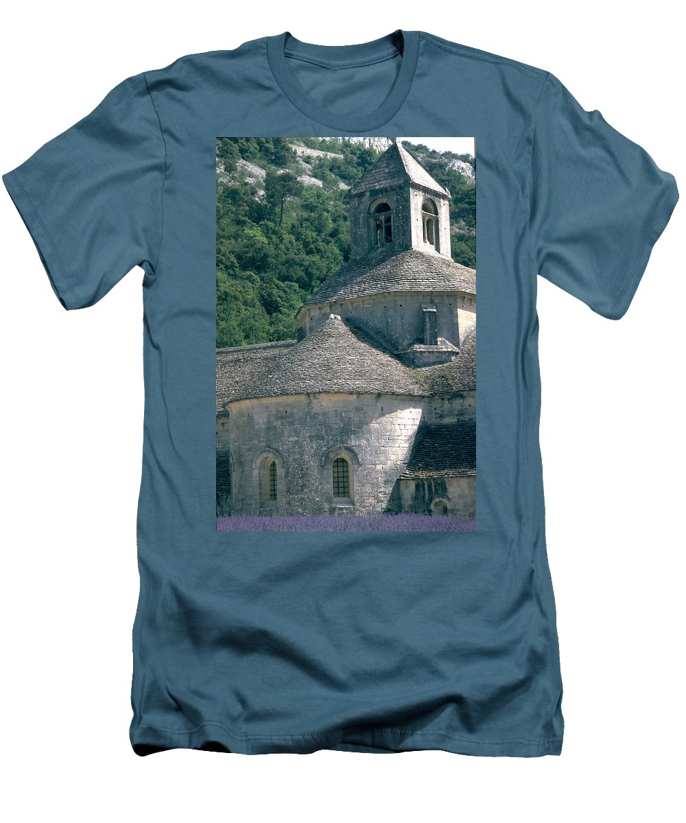 Abbeye De Senanque Men's T-Shirt (Athletic Fit) featuring the photograph Abbeye De Senanque by Flavia Westerwelle