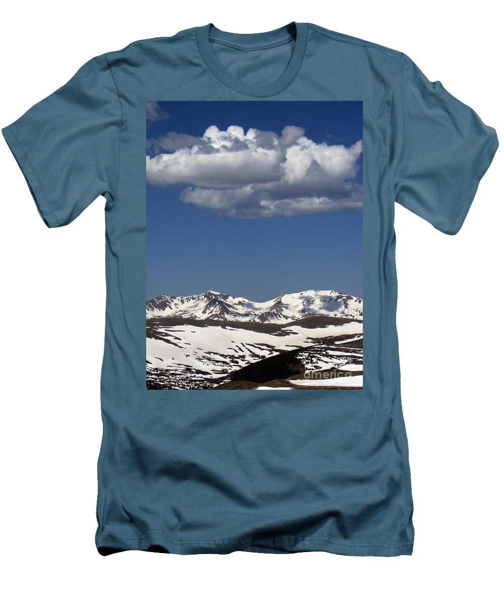 Colorado Men's T-Shirt (Athletic Fit) featuring the photograph Above It All by Amanda Barcon