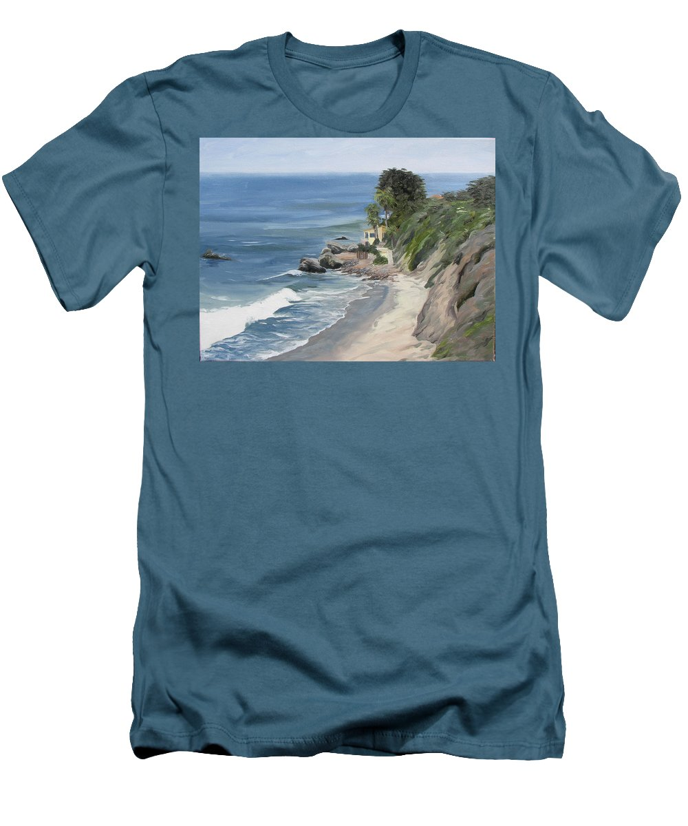 Seascape Men's T-Shirt (Athletic Fit) featuring the painting Above Zuma by Jay Johnson