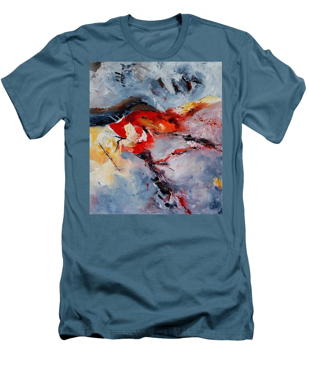 Abstract Men's T-Shirt (Athletic Fit) featuring the painting Abstract 1106 by Pol Ledent