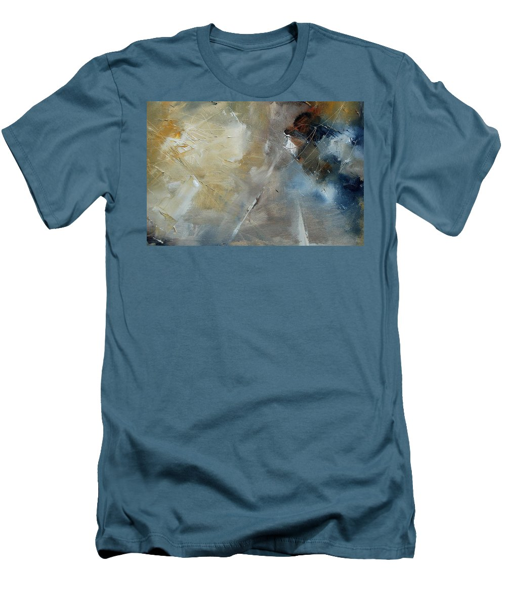 Abstract Men's T-Shirt (Athletic Fit) featuring the painting Abstract 904060 by Pol Ledent