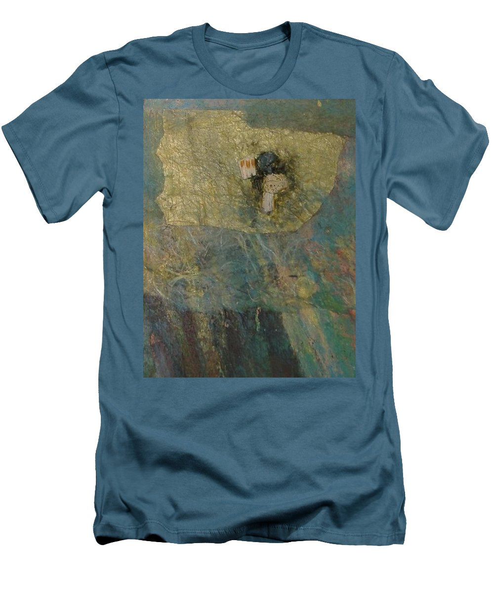 Abstract Men's T-Shirt (Athletic Fit) featuring the mixed media Abstract Two by Pat Snook
