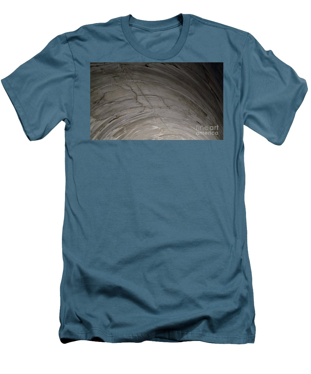 Concrete Men's T-Shirt (Athletic Fit) featuring the photograph Aging Aggregate by Richard Rizzo