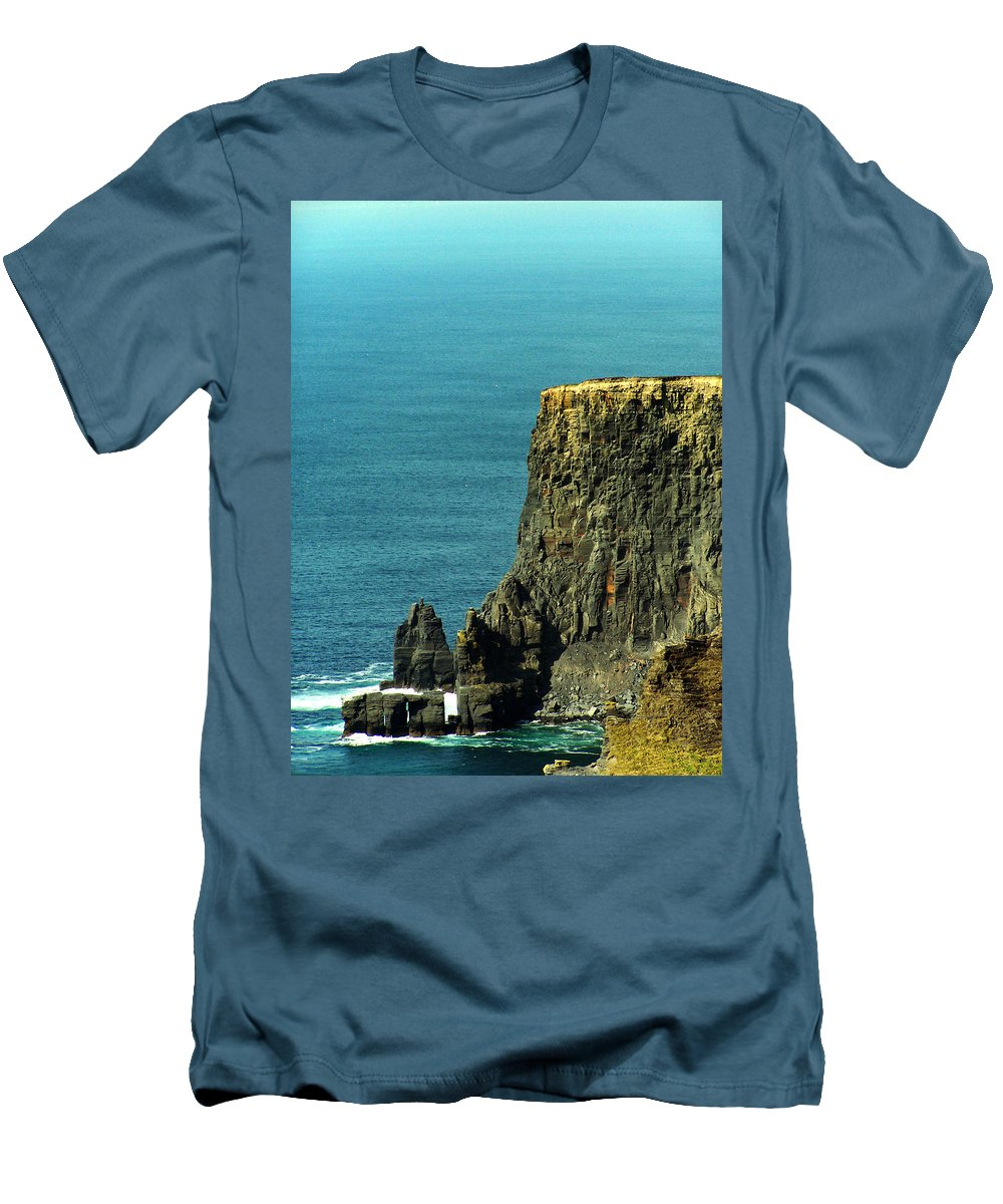 Irish Men's T-Shirt (Athletic Fit) featuring the photograph Aill Na Searrach Cliffs Of Moher Ireland by Teresa Mucha
