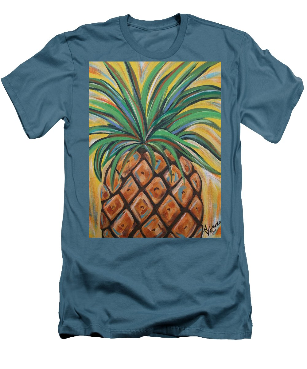 Aloha Men's T-Shirt (Athletic Fit) featuring the painting Aloha by Angela Miles Varnado