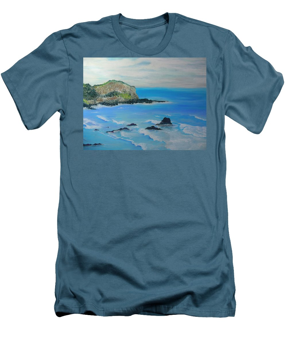 Hawaii Men's T-Shirt (Athletic Fit) featuring the painting Aloha by Melinda Etzold
