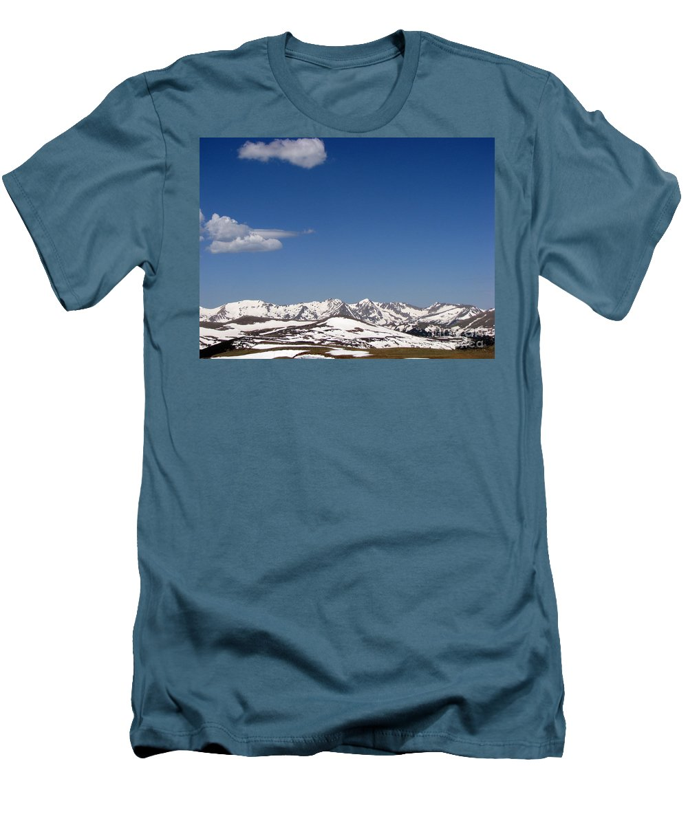 Mountains Men's T-Shirt (Athletic Fit) featuring the photograph Alpine Tundra Series by Amanda Barcon