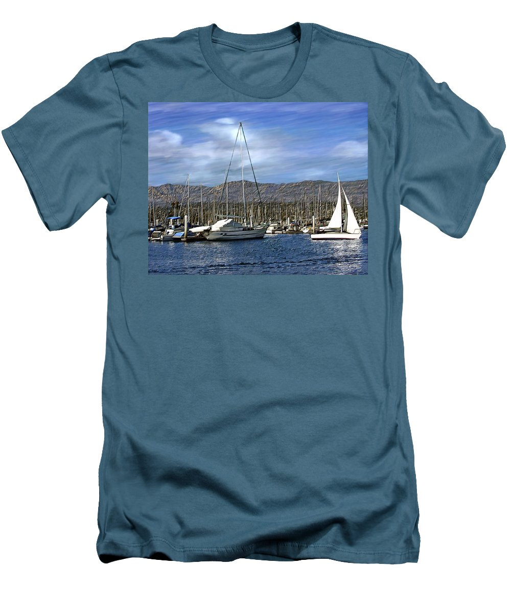 Ocean Men's T-Shirt (Athletic Fit) featuring the photograph Another Sunny Day by Kurt Van Wagner