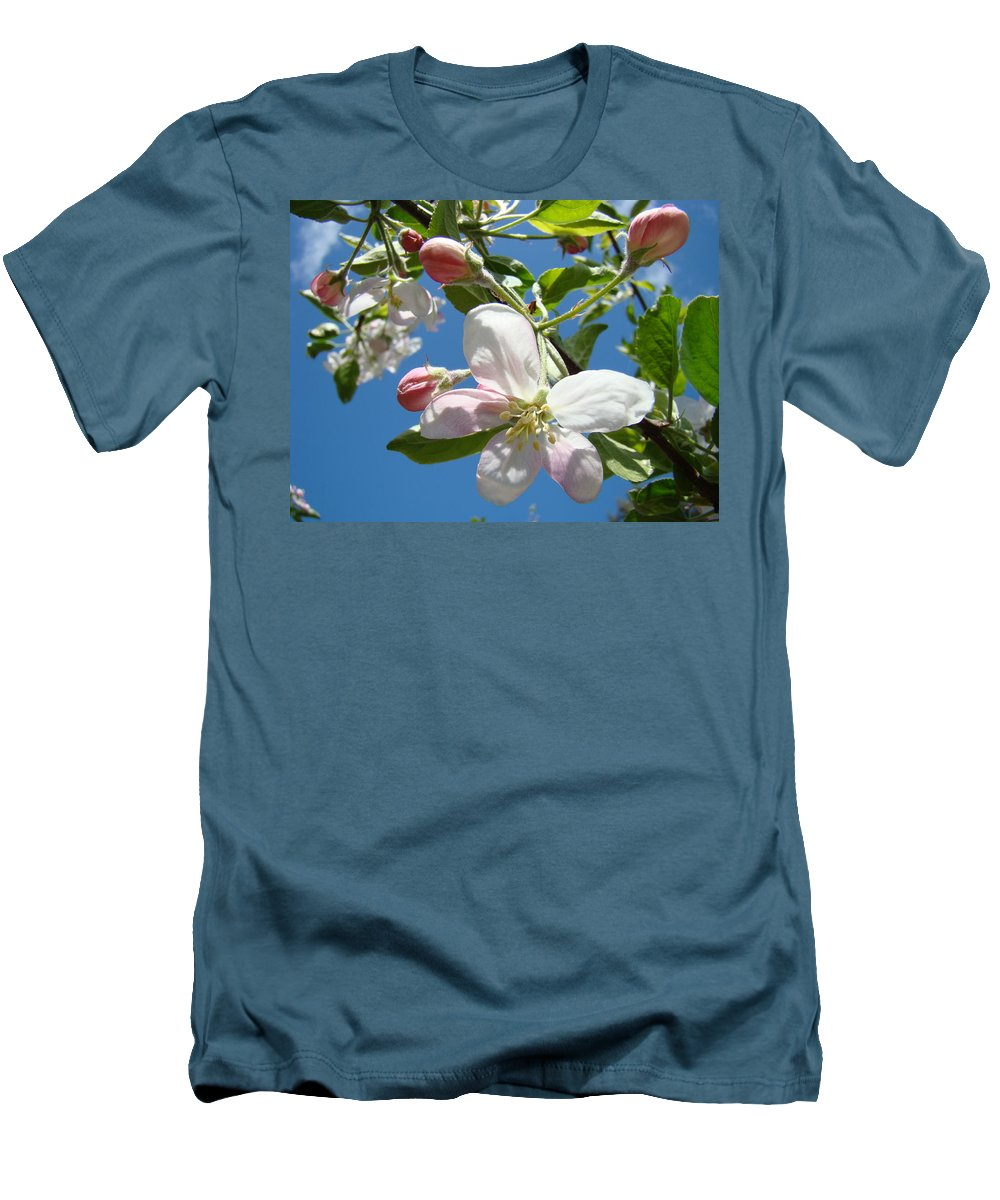 Apple Men's T-Shirt (Athletic Fit) featuring the photograph Apple Blossoms Art Prints Spring Apple Blossoms Baslee Troutman by Baslee Troutman