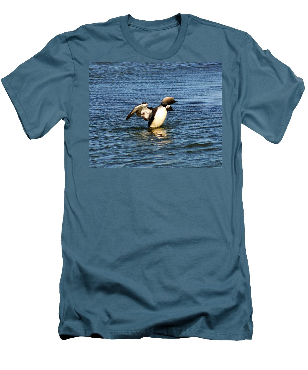 Loon Men's T-Shirt (Athletic Fit) featuring the photograph Arctic Loon by Anthony Jones