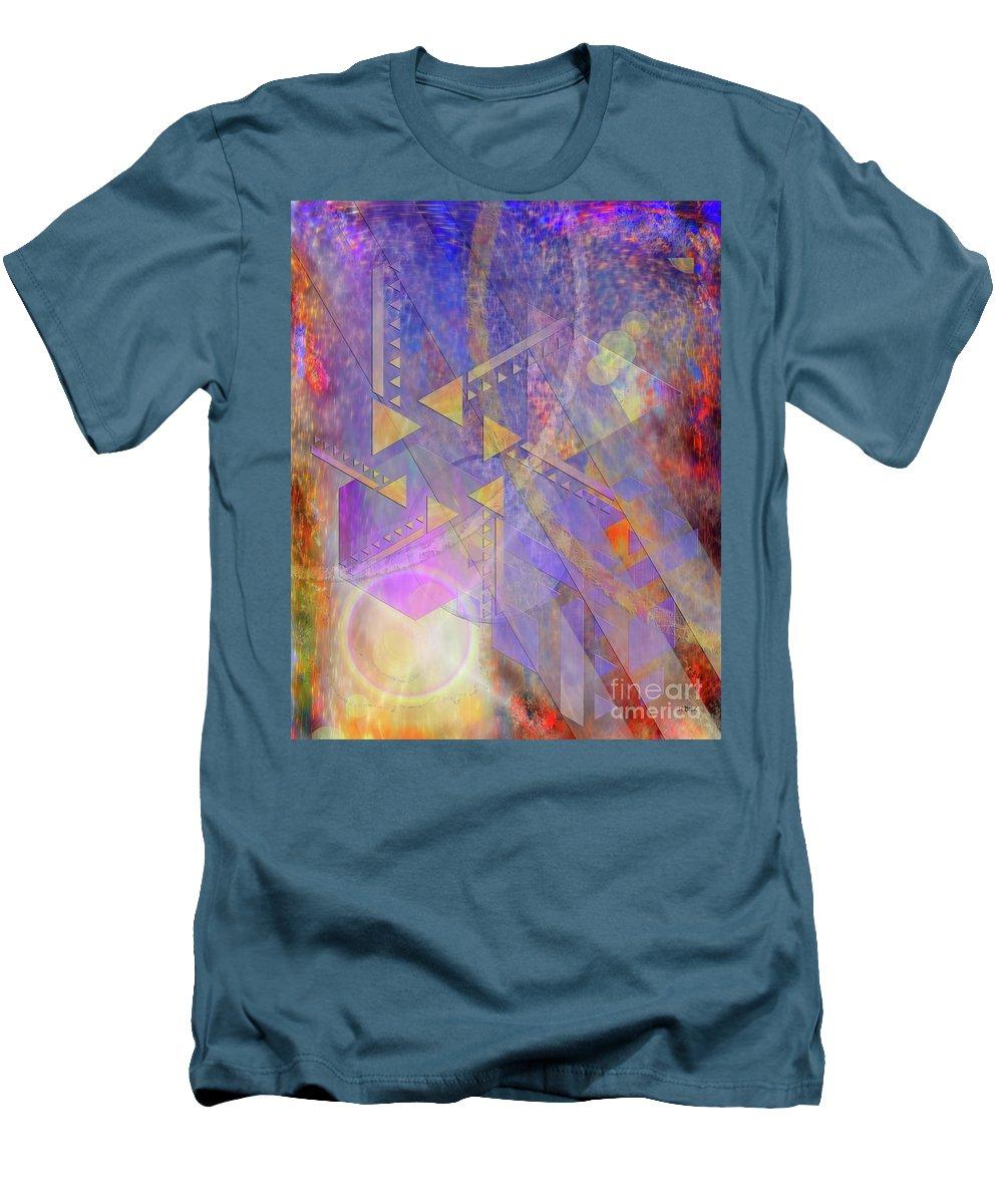 Aurora Aperture Men's T-Shirt (Athletic Fit) featuring the digital art Aurora Aperture by John Beck