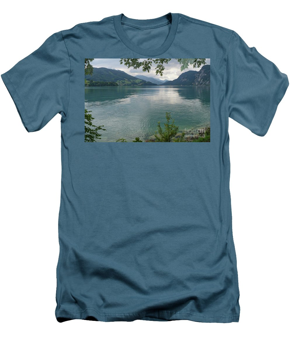 Austria Men's T-Shirt (Athletic Fit) featuring the photograph Austrian Lake by Carol Groenen