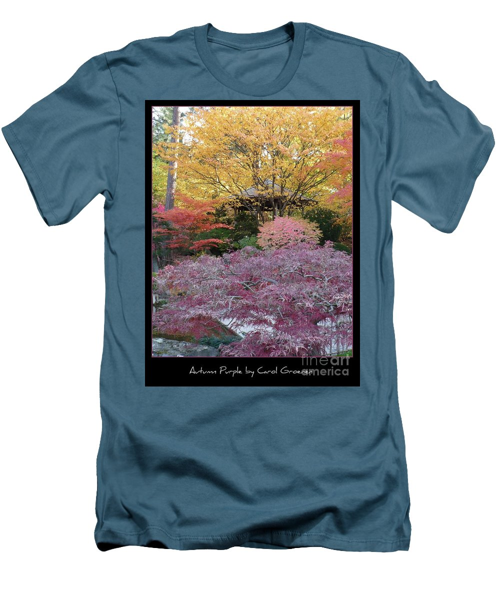 Fall Men's T-Shirt (Athletic Fit) featuring the photograph Autumn Purple by Carol Groenen