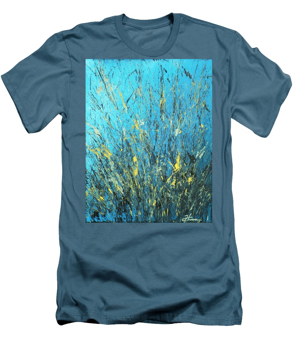 Splash Men's T-Shirt (Athletic Fit) featuring the painting Awakening by Todd Hoover