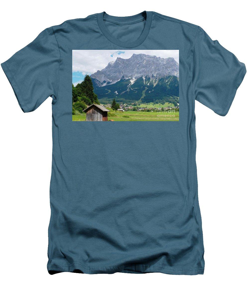 Landscape Men's T-Shirt (Athletic Fit) featuring the photograph Bavarian Alps Landscape by Carol Groenen