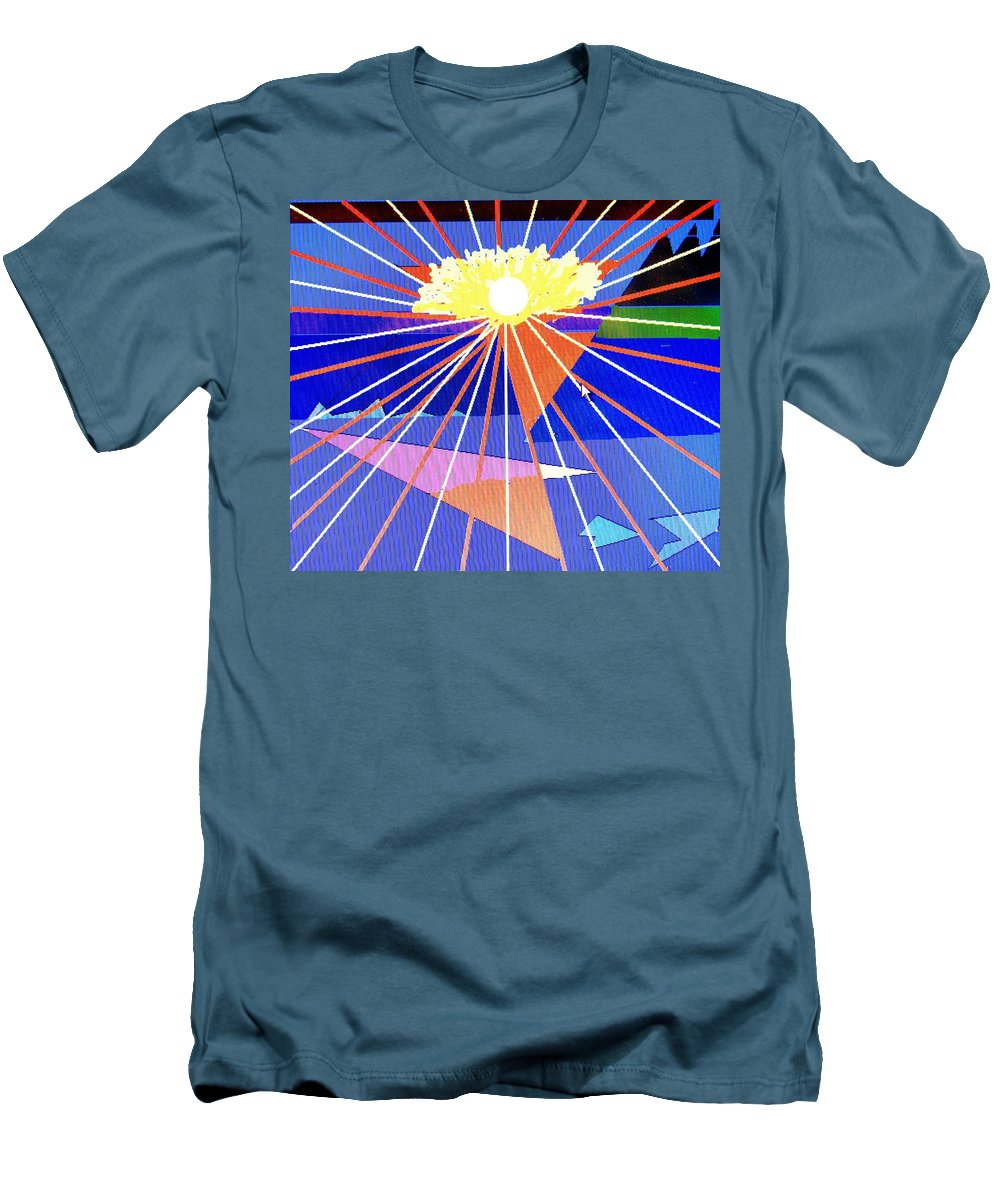 Sunset Men's T-Shirt (Athletic Fit) featuring the digital art Bermuda Sunset by Ian MacDonald