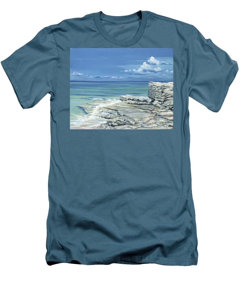 Bimini Men's T-Shirt (Athletic Fit) featuring the painting Bimini Blues by Danielle Perry