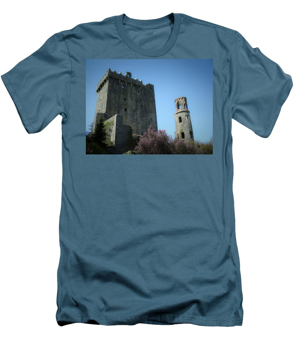 Irish Men's T-Shirt (Athletic Fit) featuring the photograph Blarney Castle And Tower County Cork Ireland by Teresa Mucha