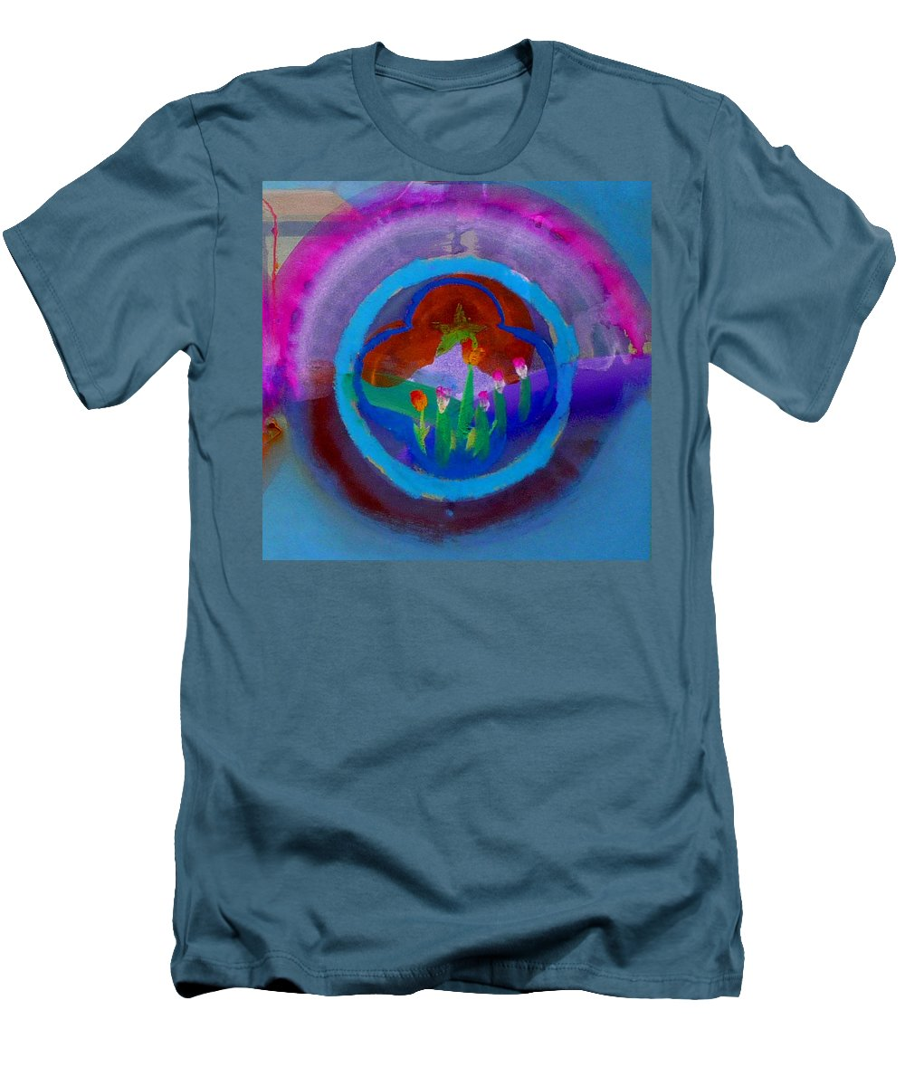 Love Men's T-Shirt (Athletic Fit) featuring the painting Blue Embrace by Charles Stuart