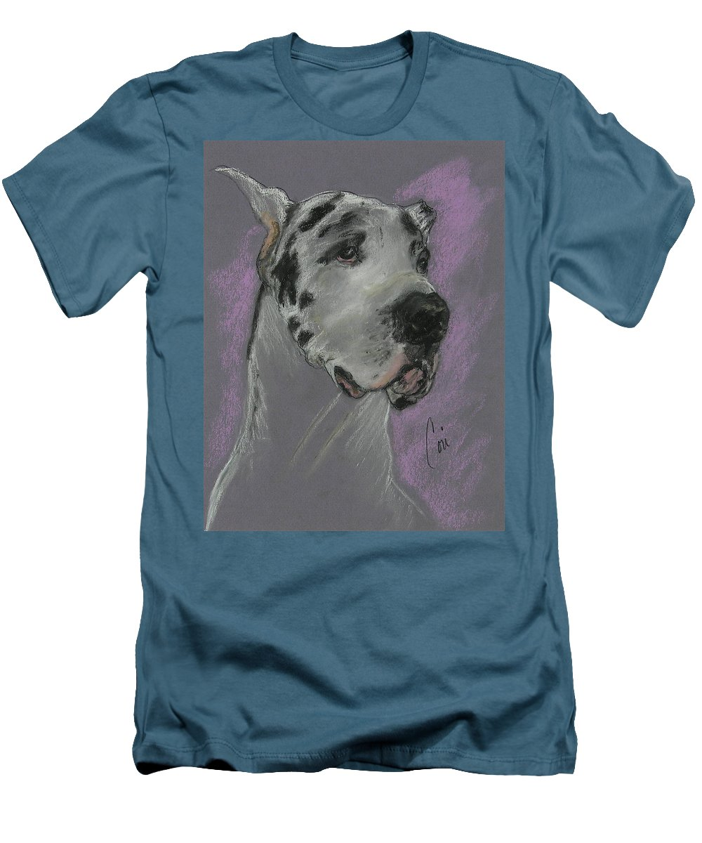 Great Dane Men's T-Shirt (Athletic Fit) featuring the drawing Bodhi's Mystique by Cori Solomon