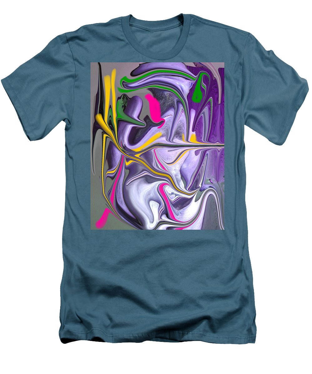 Abstract Men's T-Shirt (Athletic Fit) featuring the photograph Body Language by Allan Hughes