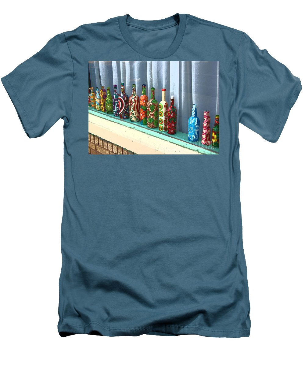 Bottles Men's T-Shirt (Athletic Fit) featuring the photograph Bottled Up by Debbi Granruth