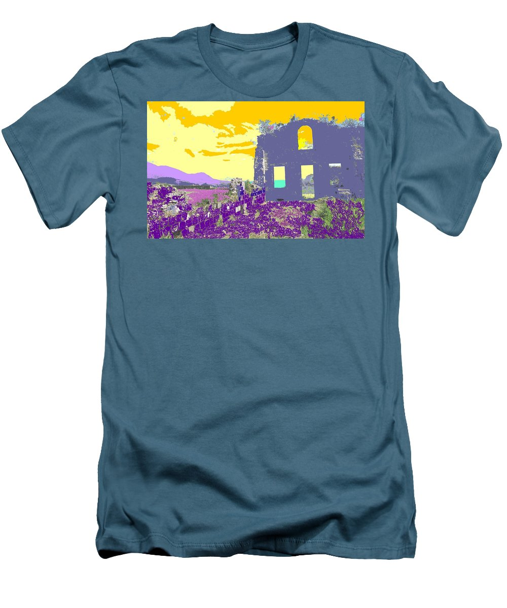 Brimstone Men's T-Shirt (Athletic Fit) featuring the photograph Brimstone Sunset by Ian MacDonald
