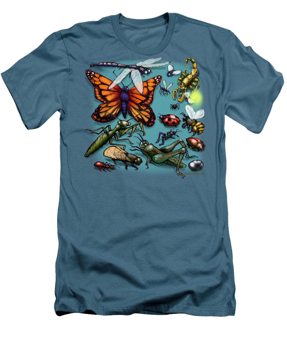 Bug Men's T-Shirt (Athletic Fit) featuring the painting Bugs by Kevin Middleton