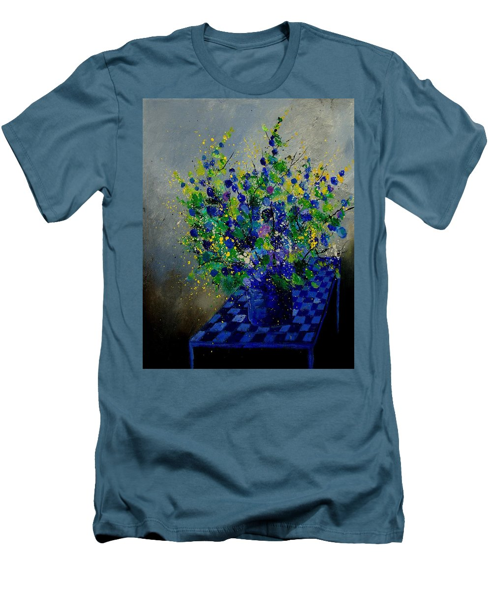 Flowers Men's T-Shirt (Athletic Fit) featuring the painting Bunch 9020 by Pol Ledent