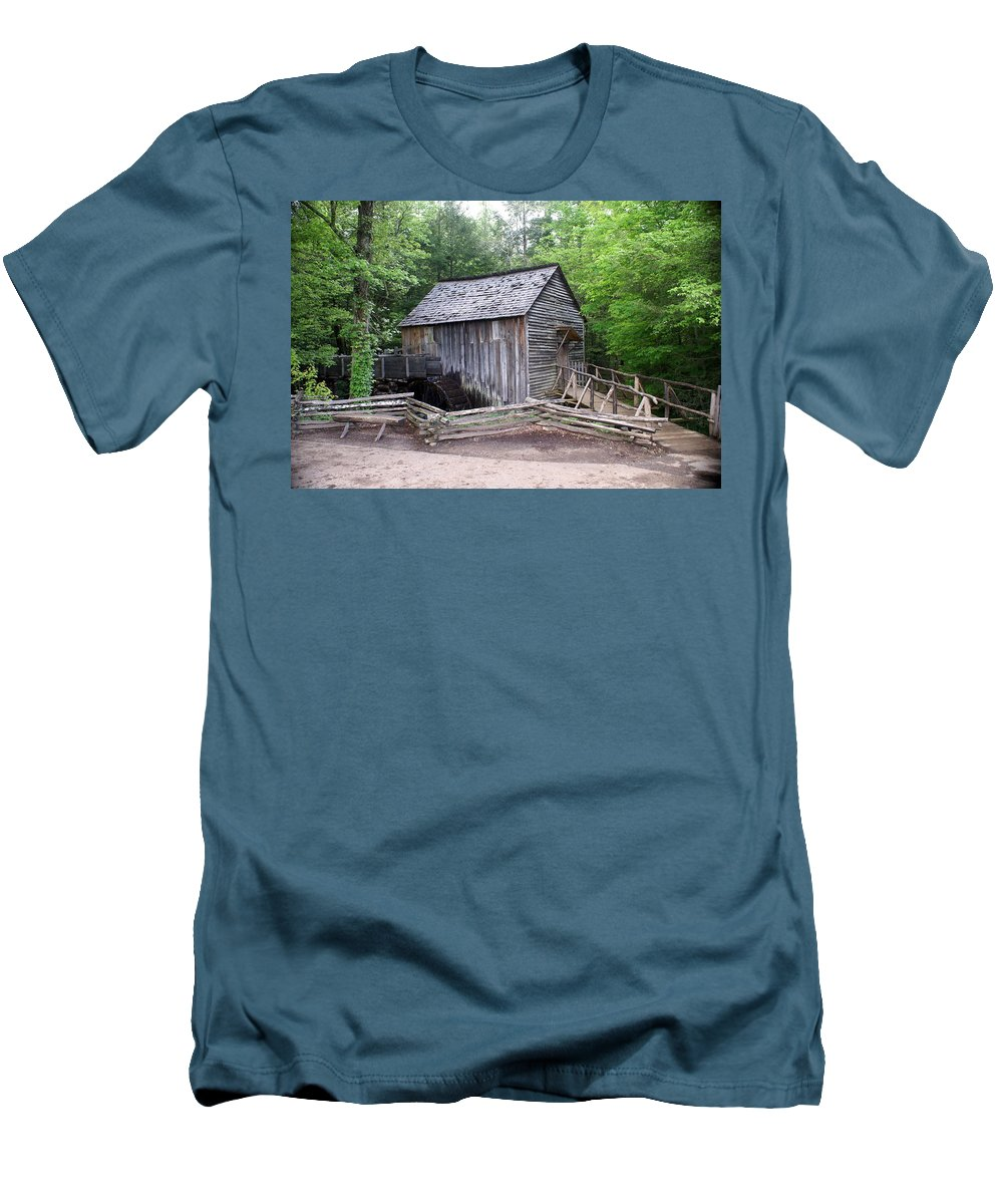 Cable Mill Men's T-Shirt (Athletic Fit) featuring the photograph Cable Mill by Marty Koch