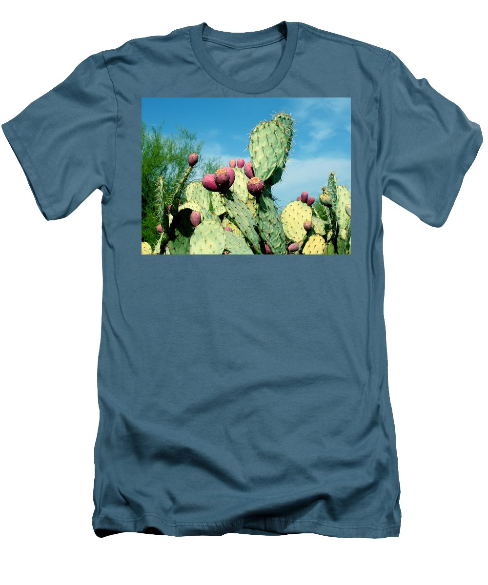 Cactus Men's T-Shirt (Athletic Fit) featuring the photograph Cactus by Wayne Potrafka