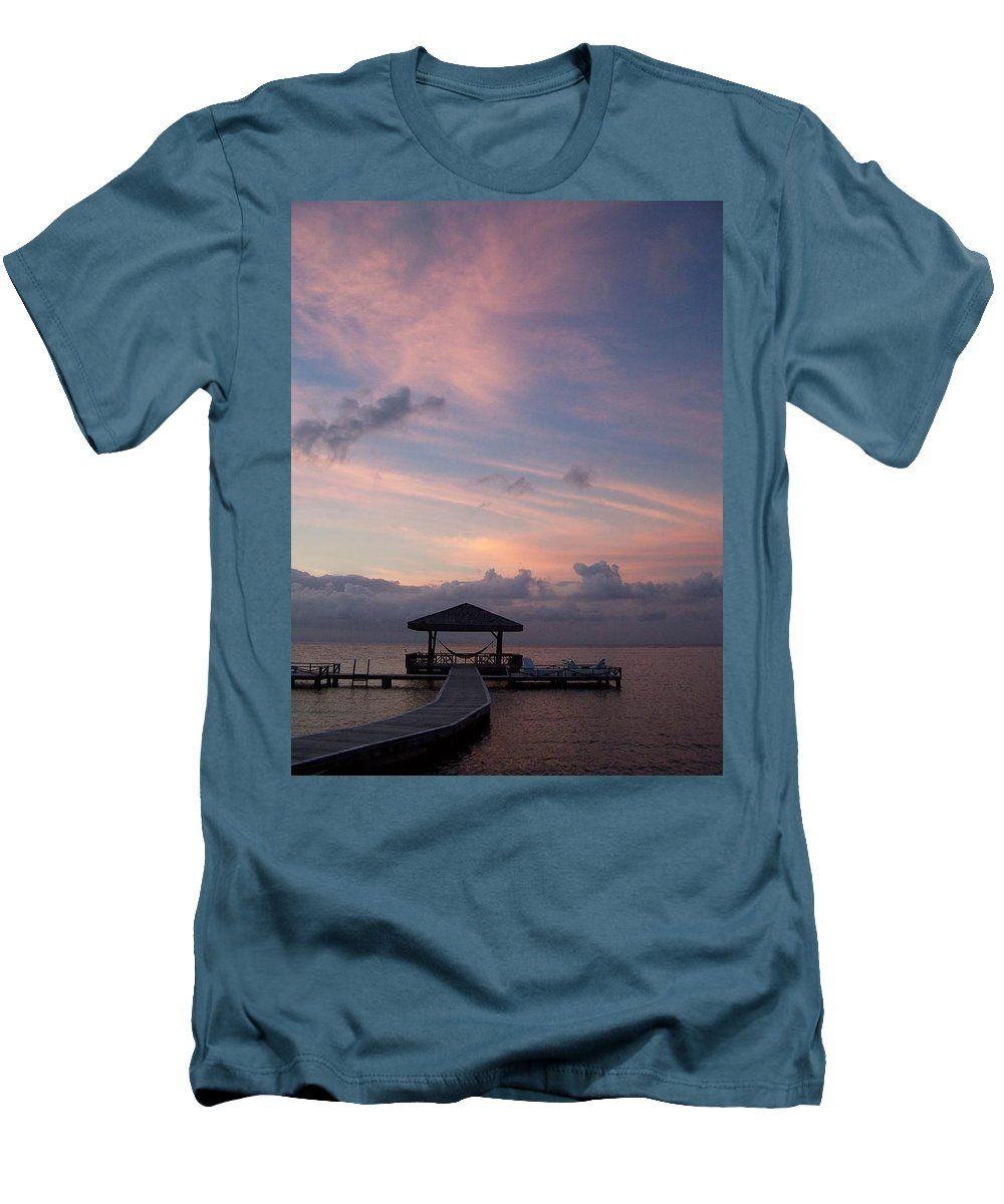 Ocean Men's T-Shirt (Athletic Fit) featuring the photograph Caribbean Sunrise by Gale Cochran-Smith