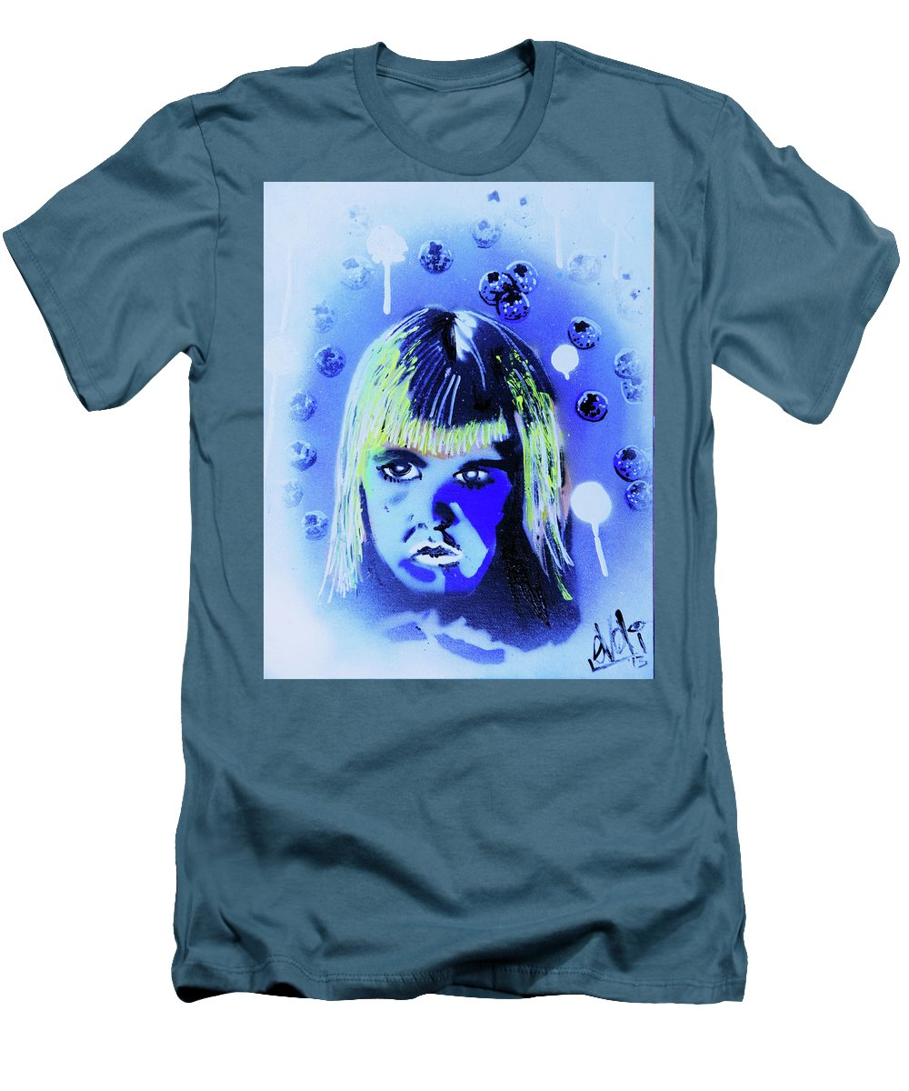 Cereal Killers Men's T-Shirt (Athletic Fit) featuring the painting Cereal Killers - Boo Berry by eVol i