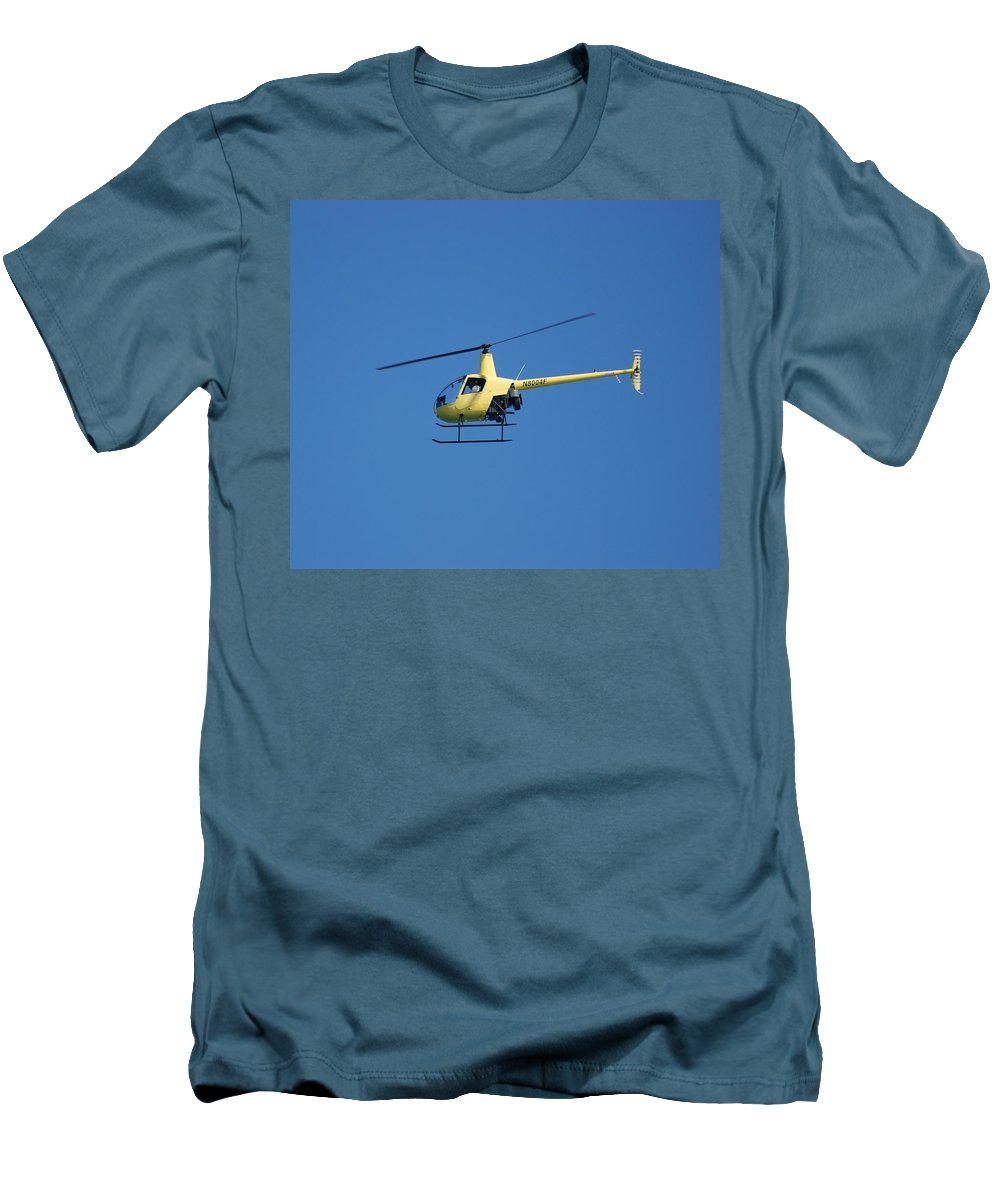 Yellow Men's T-Shirt (Athletic Fit) featuring the photograph Chopper by Rob Hans