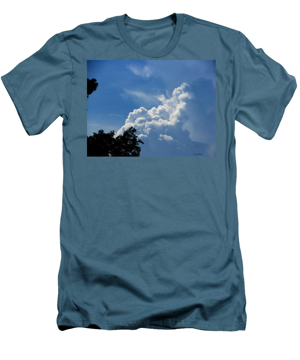 Patzer Men's T-Shirt (Athletic Fit) featuring the photograph Clouds Of Art by Greg Patzer