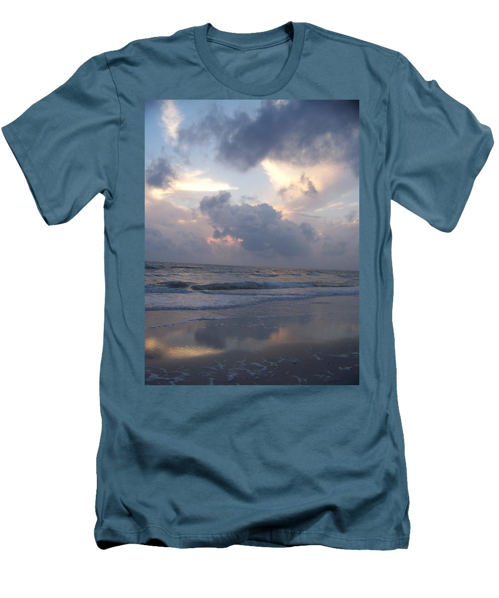 Rain Men's T-Shirt (Athletic Fit) featuring the photograph Cloudy Day In Naples by Laurie Paci