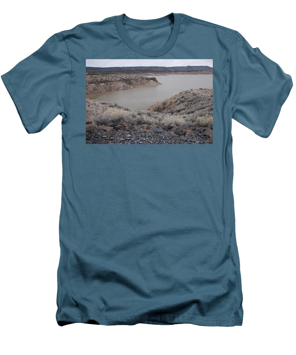 Mountians Men's T-Shirt (Athletic Fit) featuring the photograph Cochiti Lake by Rob Hans