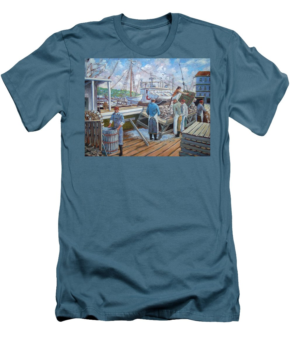 Cod Men's T-Shirt (Athletic Fit) featuring the painting Cod Memories by Richard T Pranke